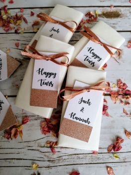 Rose gold glitter tag tissues