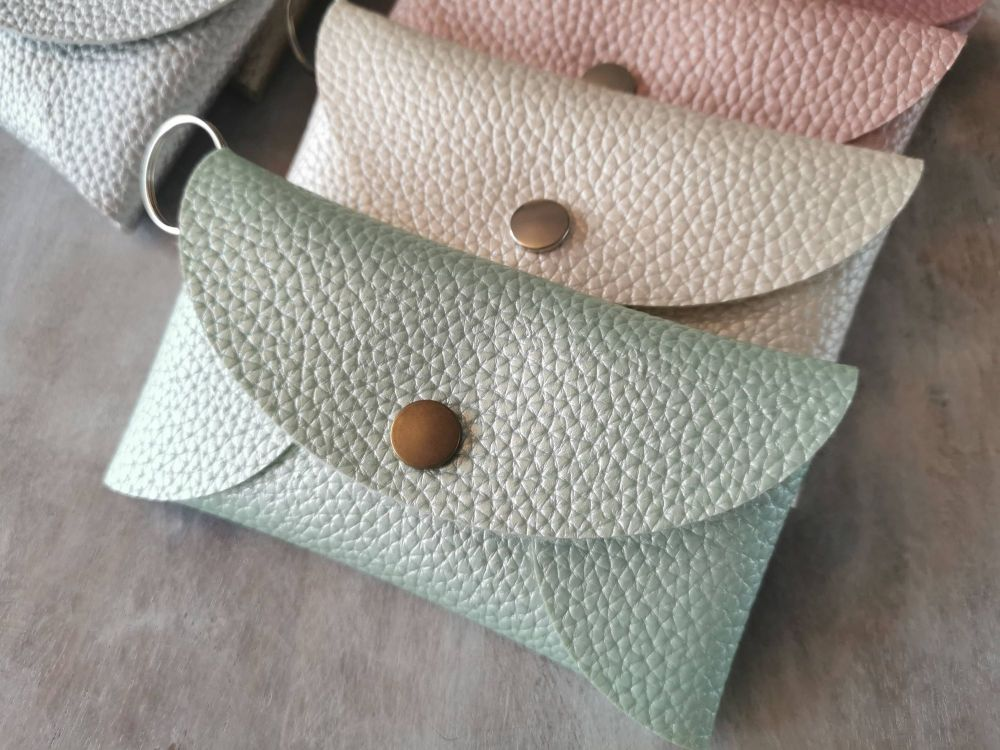 Faux leather pouch/purse