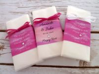 'Watercolour' personalised wedding pocket tissues