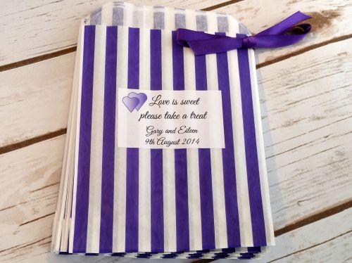 Personalised sweet bags