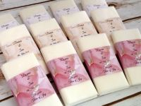 Rose petal personalised pocket tissues