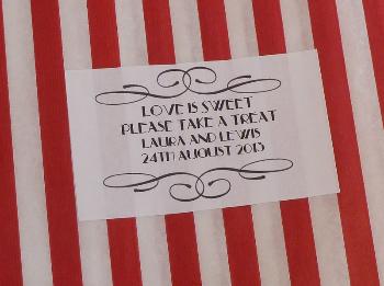 Swirl border sweet bags