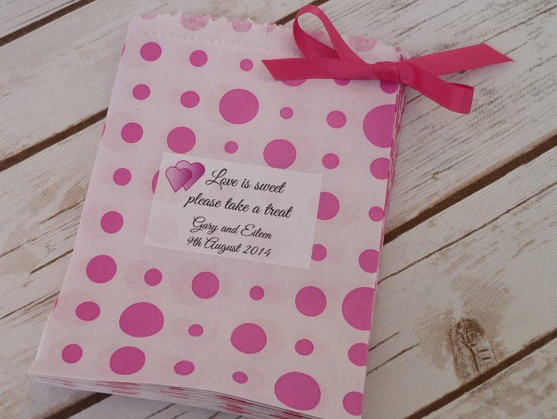 Pink spot sweet bag