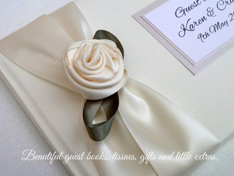 single rose guest book