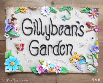 Fairy Garden Sign Ceramic