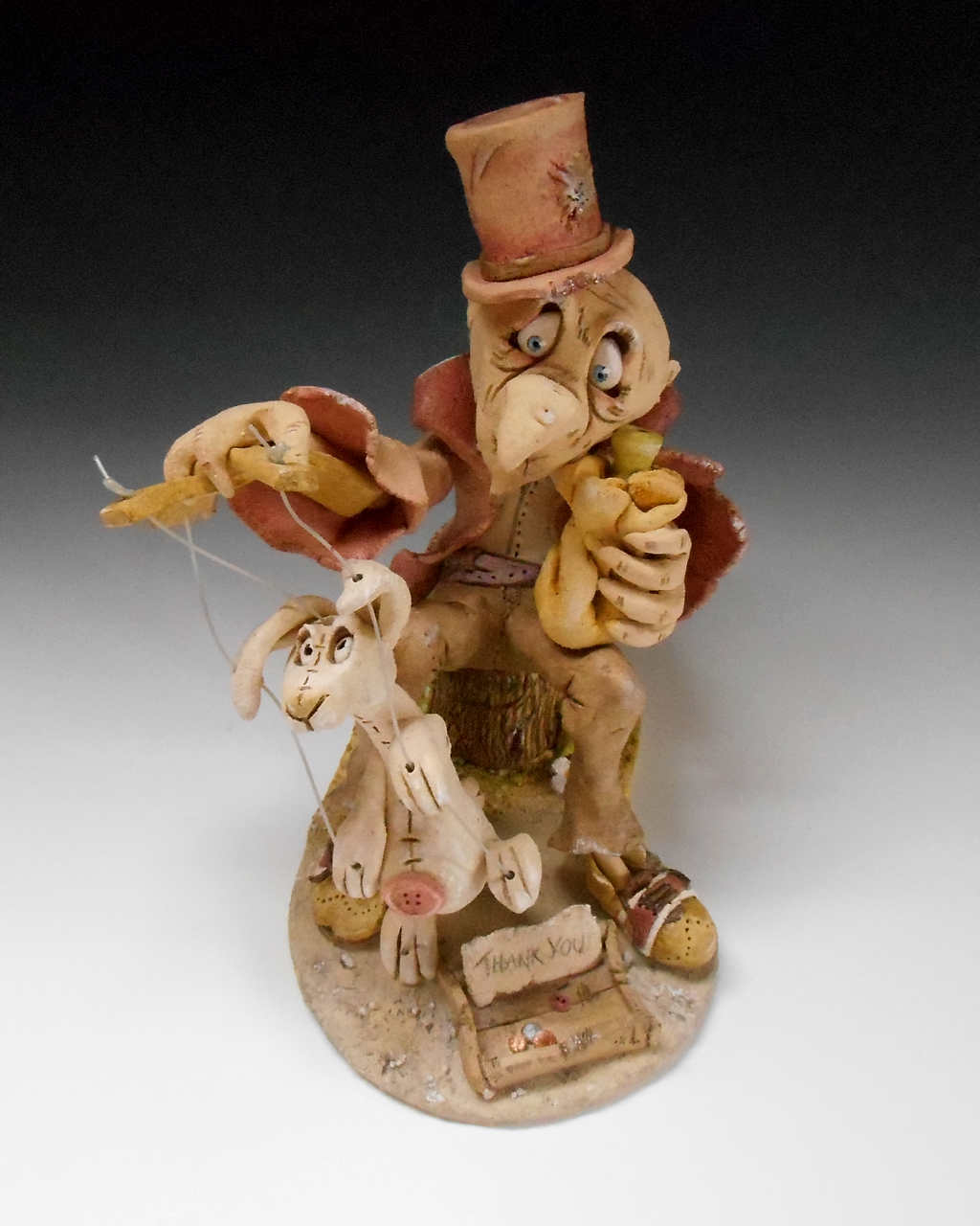Puppeteer Sculpture Ceramic Pottery