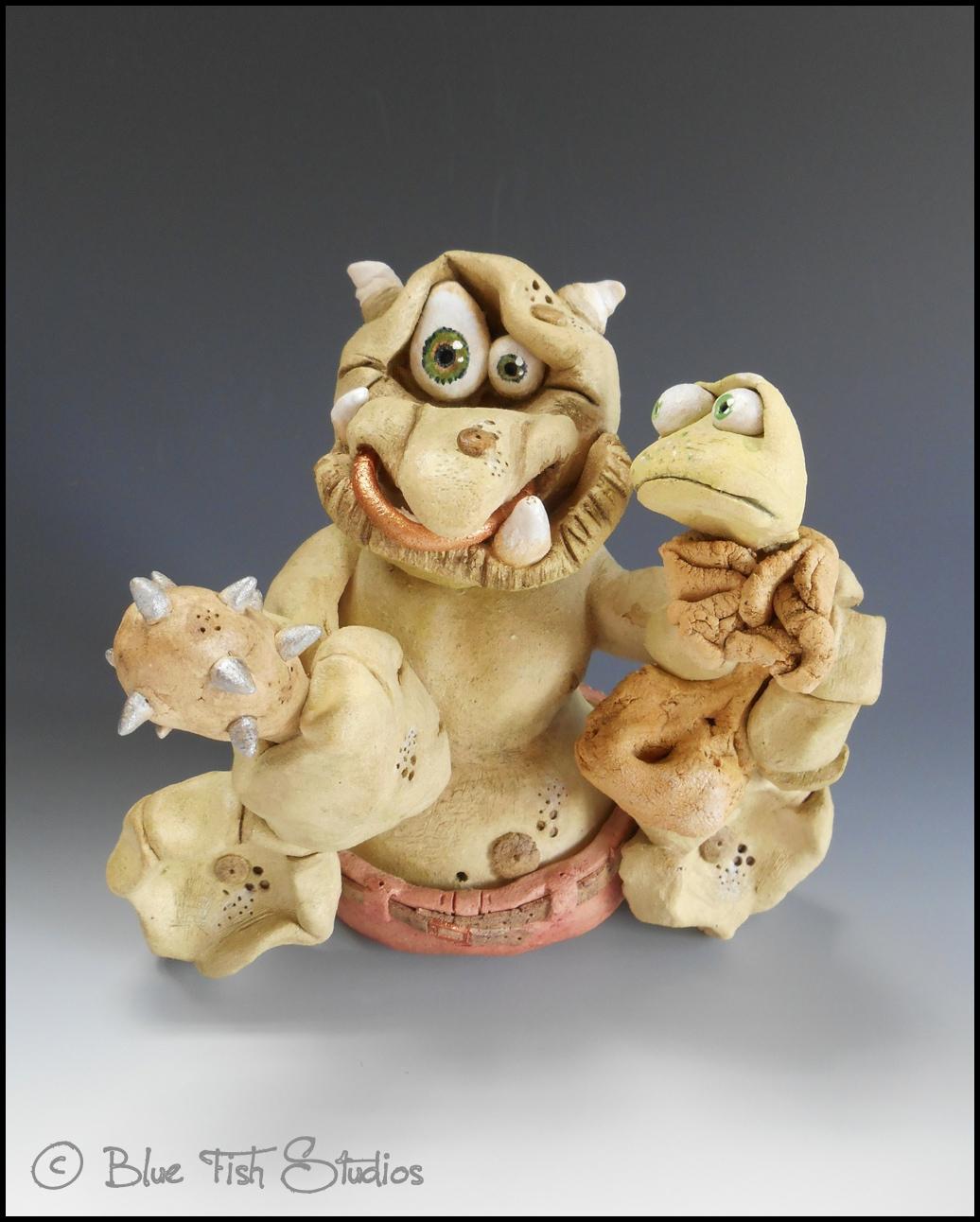 Troll Sculpture Ceramic Pottery