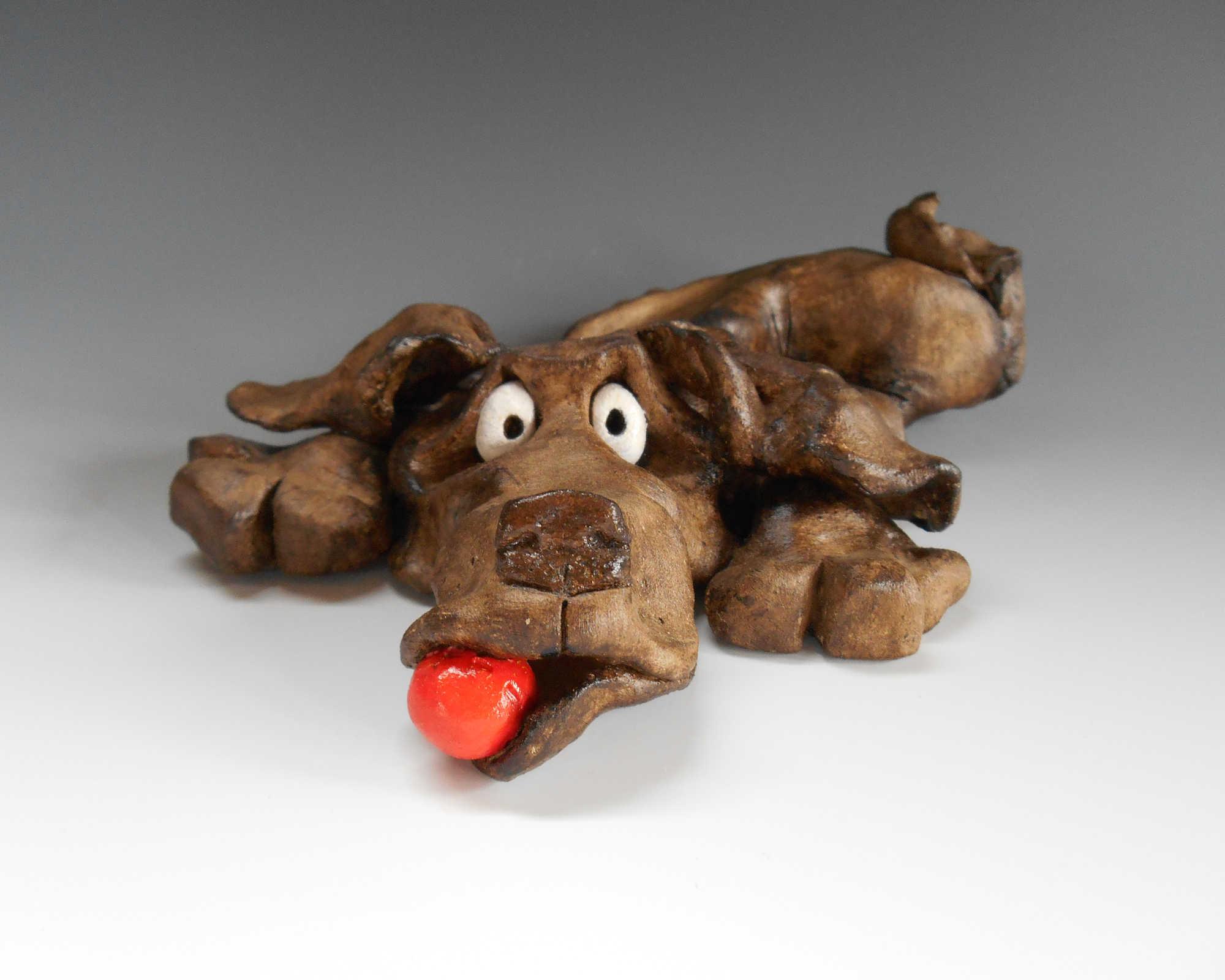 Dog Sculpture Ceramic Pottery