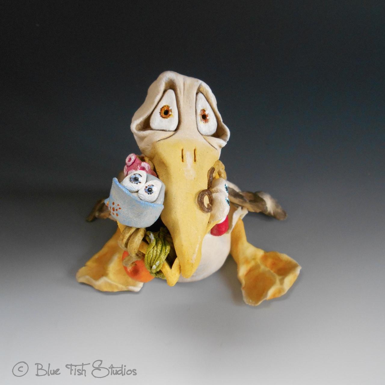 Pelican Sculpture Ceramic Pottery