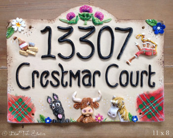 House Sign Ceramic - Personalised Country Design