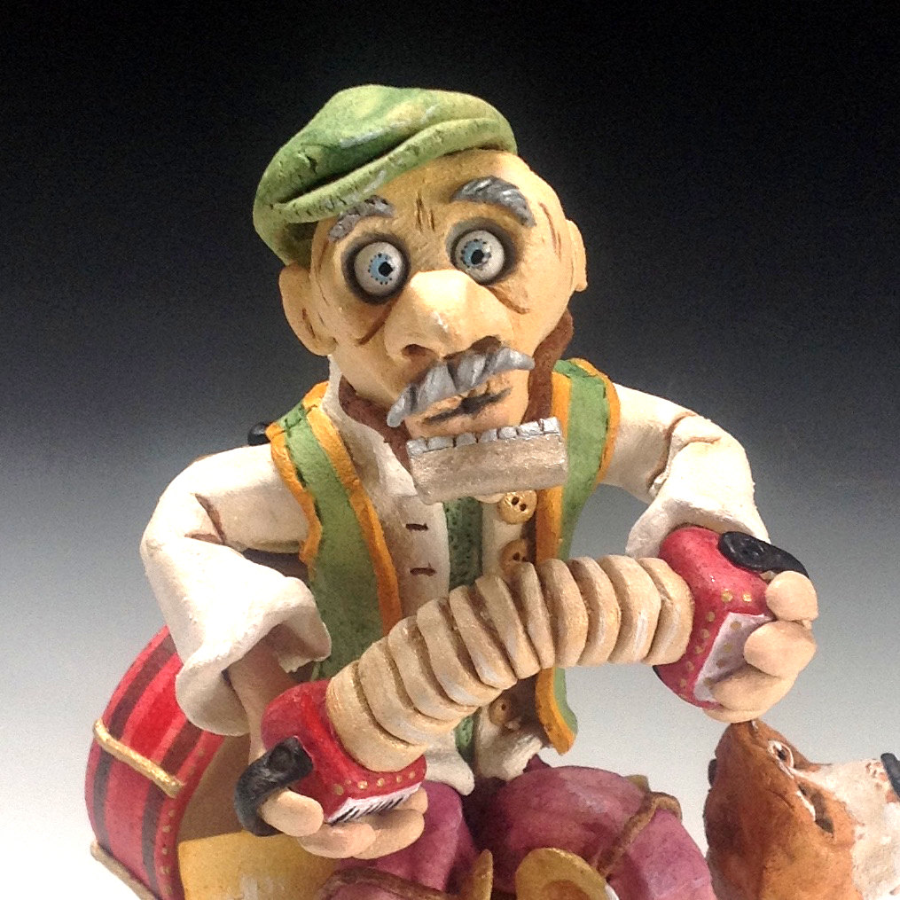 One Man Band - Ceramic Sculpture