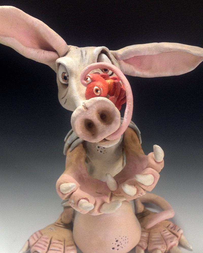 Leonard the Aardvark - Ceramic Sculpture