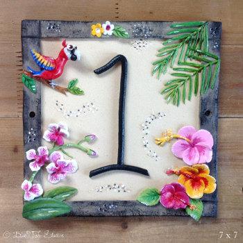 House Address Number, Tropical Design