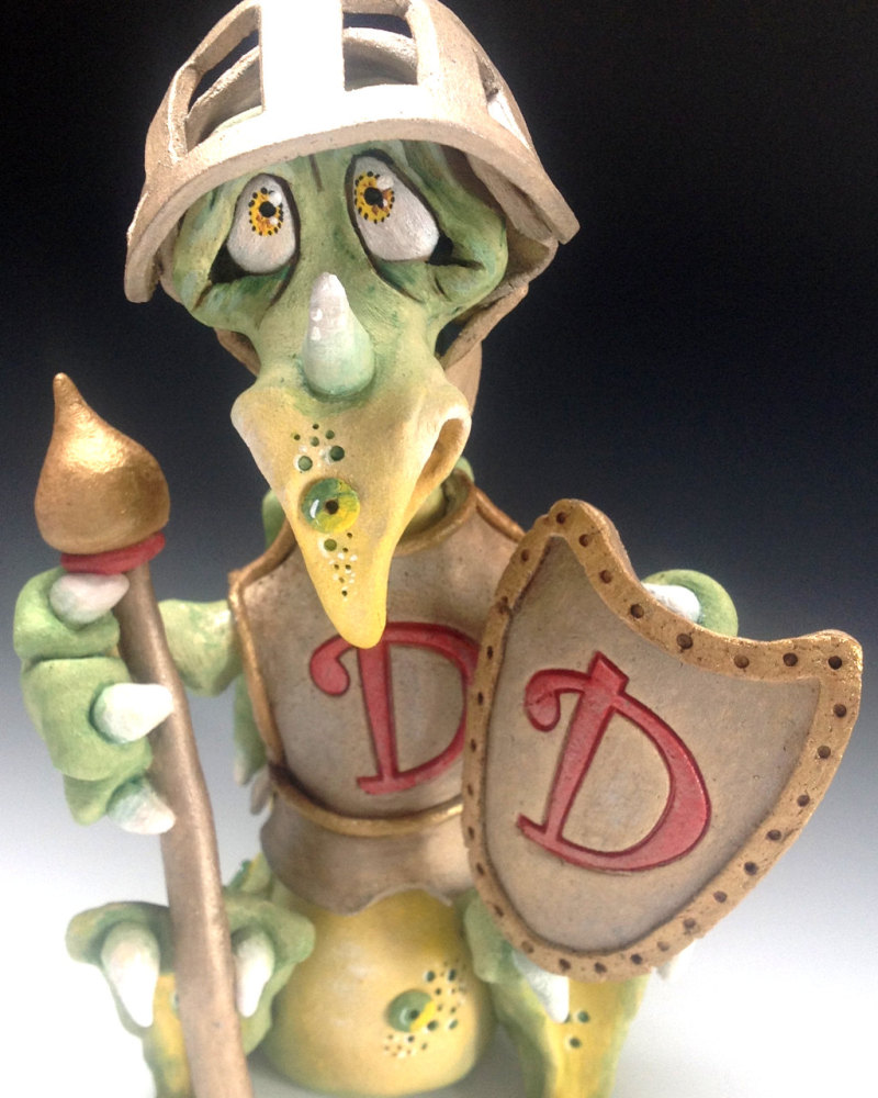 Dragon Knight - Ceramic Sculpture