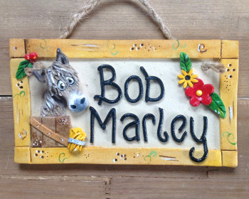 Donkey Stable Name Sign - Framed