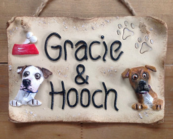 Dog Kennel Name Sign Personalised