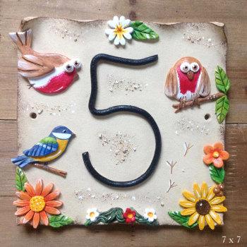 House Address Number, English Garden Birds