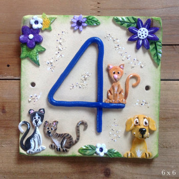 House Address Number, personalised pets