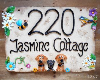 House Sign Ceramic - Jasmine Flowers Design