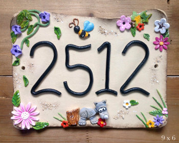 House Sign Ceramic - Windy Day Design