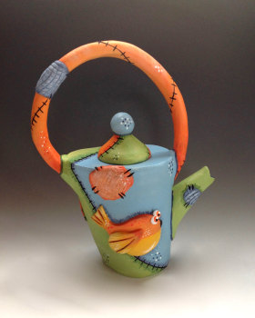 Whimsical Teapot for One