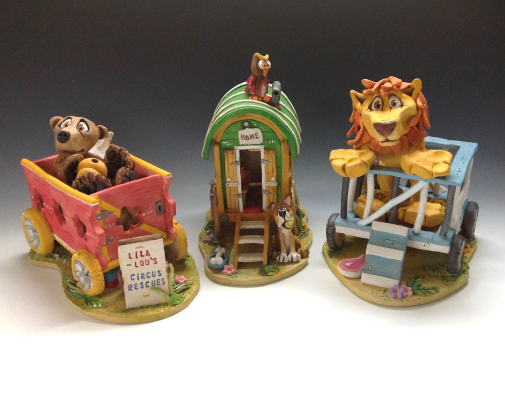 Lia Lou's Circus Rescues - Ceramic Sculpture