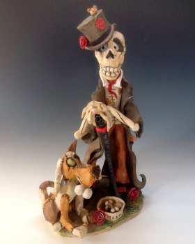 Dr Hoodoo of Voodoo - Ceramic Sculpture