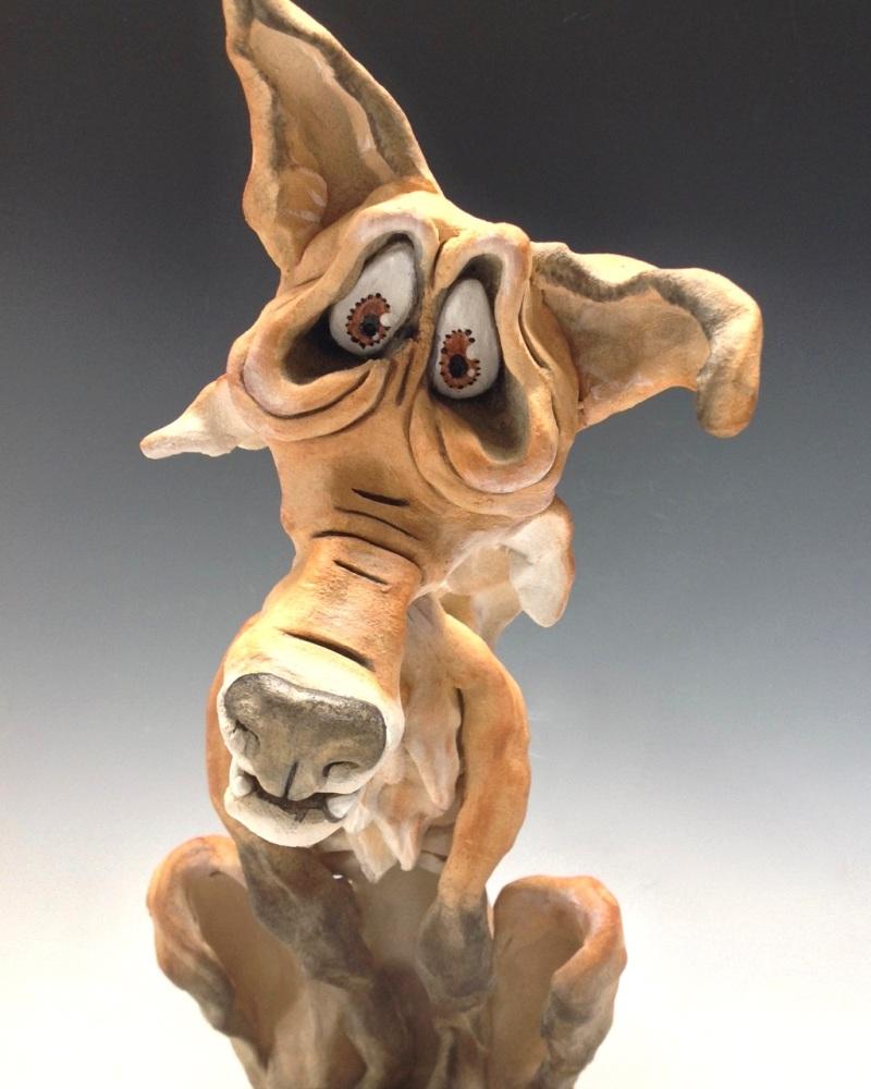 Lionel the Fox - Ceramic Sculpture