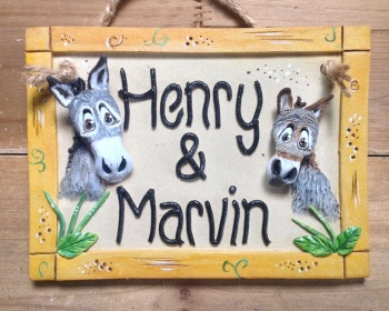 Donkeys or Horses Stable Name Sign - For 2