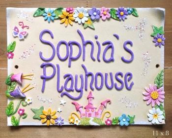 Children's Playhouse Sign - Castle Design