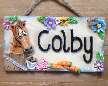 Horse stable name sign