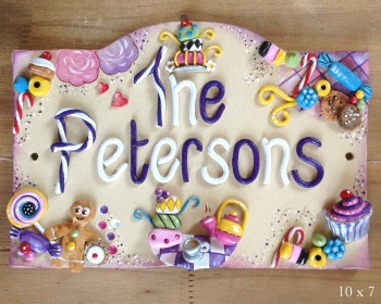 House Sign Ceramic - Whimsical Tea Party
