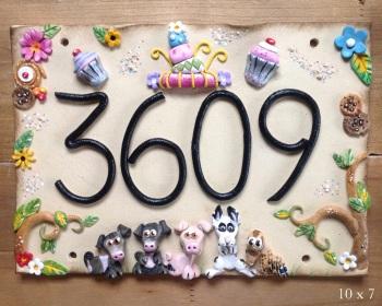 House Sign Ceramic - Whimsical cakes