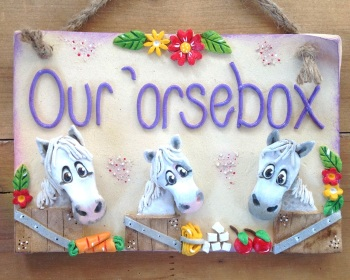 Donkeys or Horses Stable Name Sign - For 3