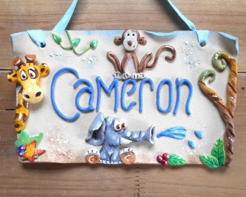 Children's Name Sign - Jungle Boys
