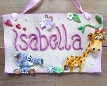 Children's Name Sign - Jungle Girls