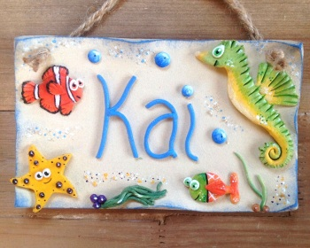 Children's Name Sign - Under the Sea