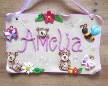 Children's Name Sign - Teddy Bears