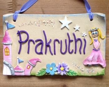 Children's Name Sign - Princess