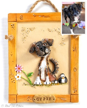 Caricature Pet Portrait - Hand Sculpted Ceramic