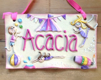 Children's Name Sign - Circus