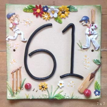 House Address Number with Sports Design