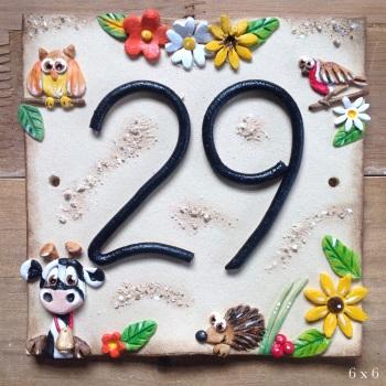 House Address Number, cow design