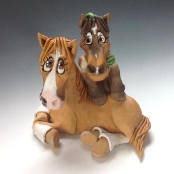 Horse Ceramic Sculpture