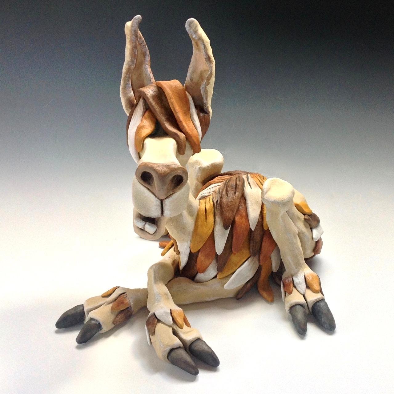 Llama sculpture ceramic stoneware