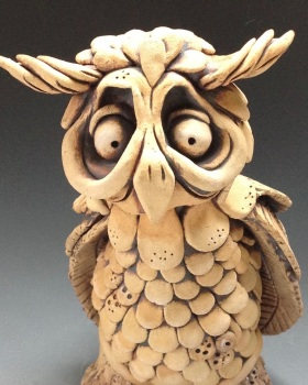 Wordsworth the Owl Sculpture - Ceramic