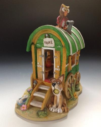 Gypsy Caravan - Ceramic Sculpture