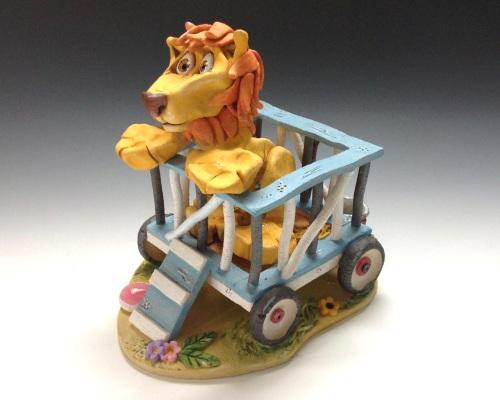 Arnie the Circus Lion - Ceramic Sculpture