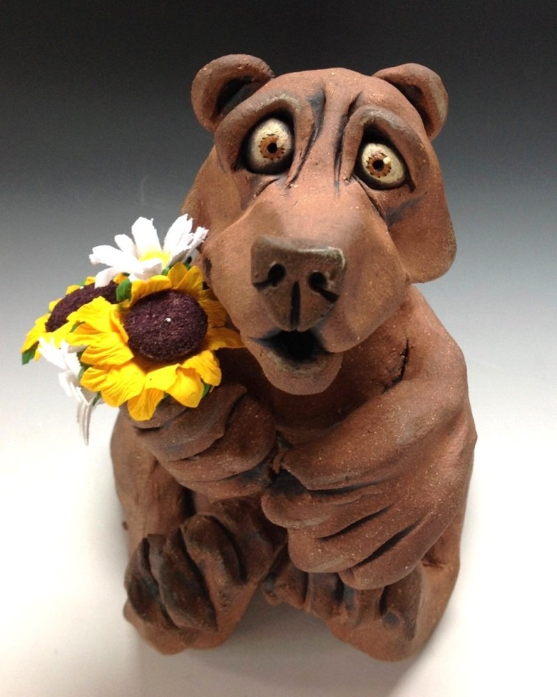 the Bear Sculpture - Ceramic