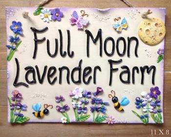 House Sign Ceramic - Lavender Design